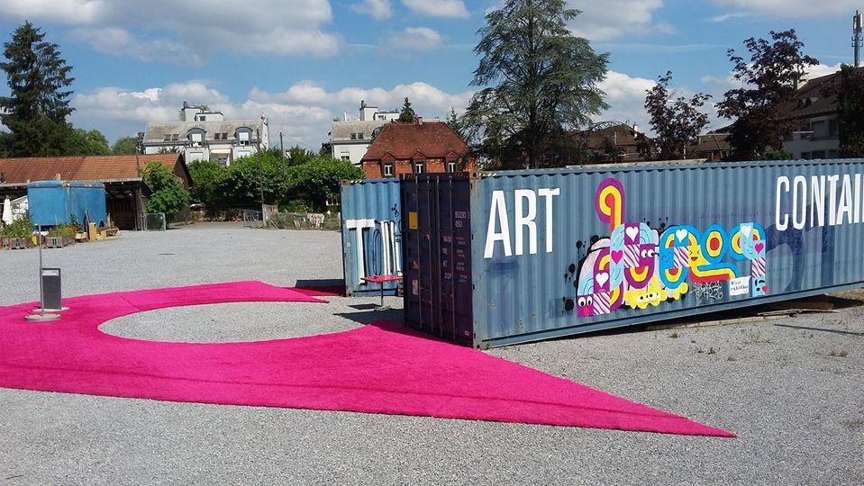 art container in Zürich