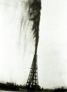 Die so genannte Lucas-Fontäne: So begann 1901 der Ölboom in Spindletop, Texas