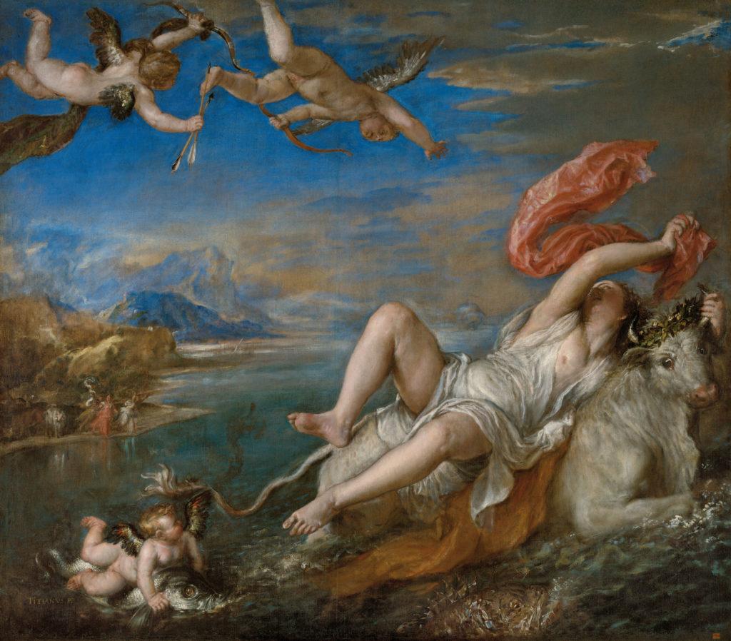 Raub der Europa. Tizian. Mit freundlicher Genehmigung des Isabella-Stewart-Gardner-Museum, Boston