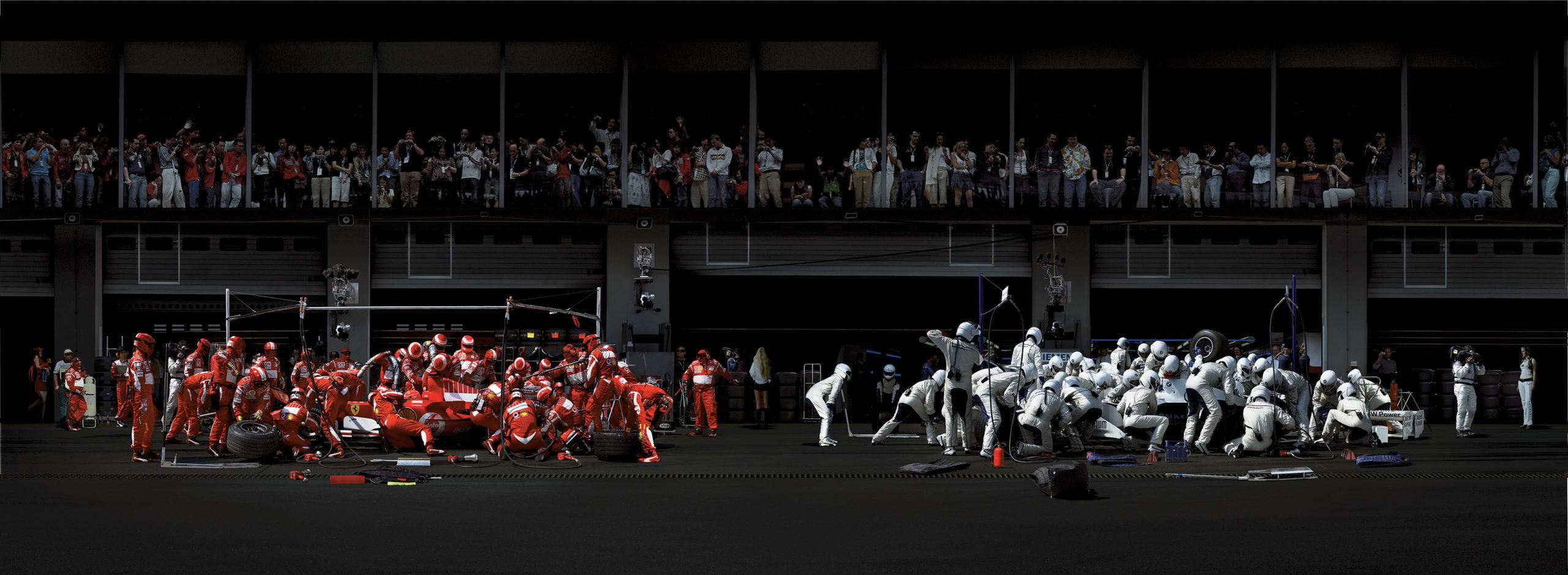 "Andreas Gursky: ""F1 Boxenstopp I"""