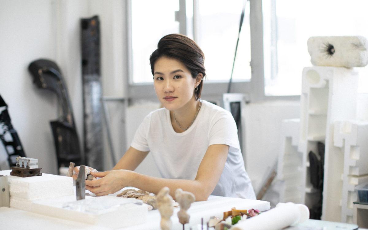 Leelee Chan in ihrem Studio. 2020. Mit freundlicher Genehmigung der Künstlerin