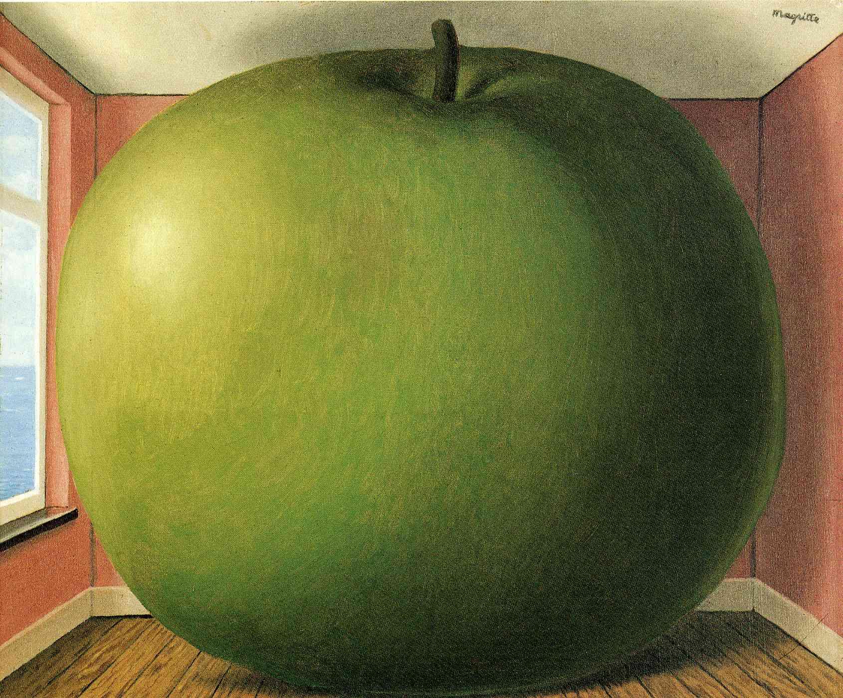 René Magritte Apfel